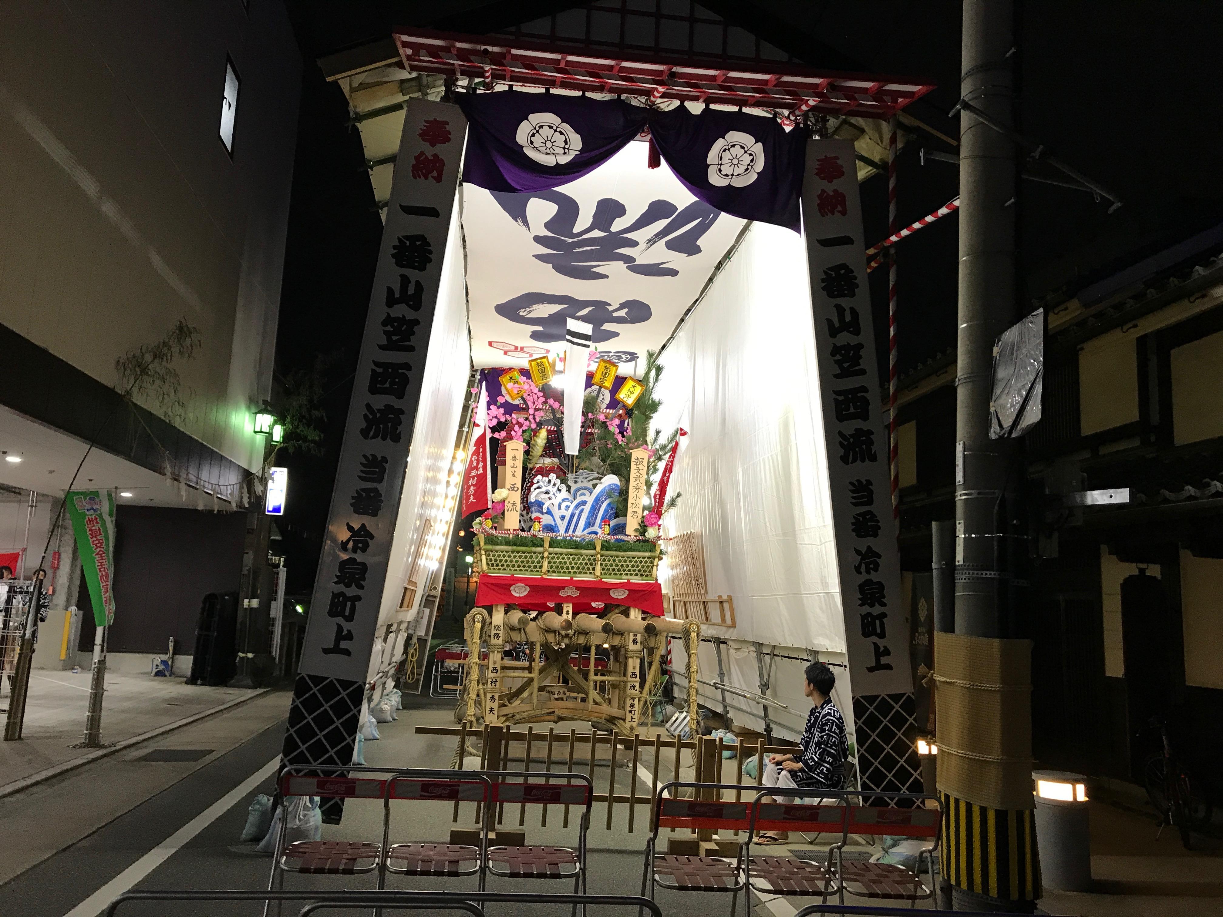 一番山笠「西流」を見て櫛田神社にお詣りしてきました。